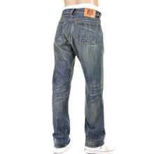 RMC Martin Ksohoh 07X Heavy Whiskered and Faded Selvedge Denim Jeans in Indigo with Vintage Light Wash REDM2274