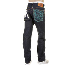 RMC Martin Ksohoh slim cut Rock n Roll jean lake tsunami wave RMC 1001 model jeans REDM5036