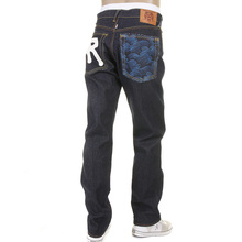 RMC Martin Ksohoh slim cut Rock N Roll blue tsunami wave RMC 1001 model jeans REDM5037