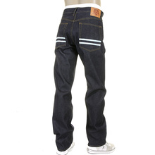 RMC Martin Ksohoh Slim Cut 1001 Model Sky Hand Painted Mens Super Exclusive Dark Indigo Raw Denim Jeans REDM5656