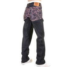 RMC Martin Ksohoh jeans full back Enchanted pink Tsunami wave jeans REDM6315