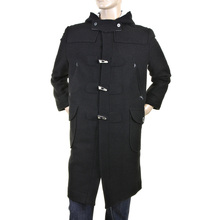 RMC Martin Ksohoh black wool fishermans duffle coat RMC2336