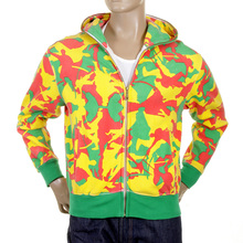 RMC Martin Ksohoh yellow camo zipped hooded sweatshirt REDM1020