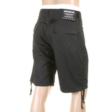 RMC Martin Ksohoh Mens Super Exclusive MKWS Camo Trim Chino Shorts in Black with Zip Fly REDM0999