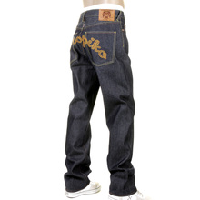 RMC Jeans X Yoropiko Raw RQP11090 Selvedge Indigo Denim Jeans with Chain Stitch Embroidery REDM1210