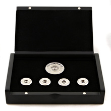Yoropiko 18 Carat White Gold Rhodium Plated Button Set by Martin Yat Ming with Gift Box YORO2395