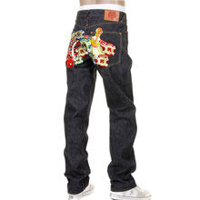 RMC Martin Ksohoh full back embroidered Casino slimmer cut 1001 model denim jean REDM1217