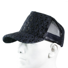 RMC Jeans Black Embroidered Logo Cap with Black Mesh for Men REDM9099