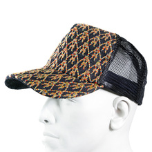 RMC Jeans Black Mesh with Rainbow Embroidered Logo Cap for Men REDM9100