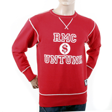 RMC Martin Ksohoh Washed Red Regular Fit RWH141263 Crewneck Dollar UNTUNK Sweatshirt for Men REDM1033