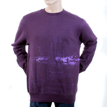 RMC Martin Ksohoh Regular Fit Purple RWH141162 Toyo Story Bridge Crew Neck Sweatshirt for Men REDM1066