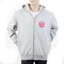 RMC Martin Ksohoh RJK141160 Regular Fitting Zipped Front Untunk Print Hooded Sweatshirt in Grey Marl REDM1035