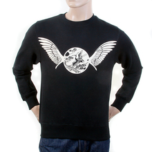RMC Martin Ksohoh Mens Black Crew Neck RWC141262 Long Sleeve Freedom Crane Large Fit Sweatshirt REDM1030