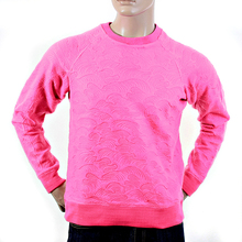RMC Jeans Tsunami Wave R6WHTSUNAMIE Raglan Sleeve Crew Neck Sweatshirt in Pink REDM1060