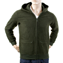 RMC Martin Ksohoh wool tsunami wave bottle green zipped hoody jacket REDM1050