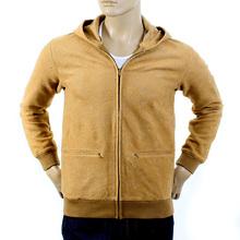 RMC Martin Ksohoh wool tsunami wave camel zipped hoody jacket REDM1049