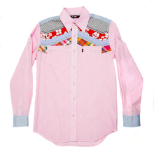 Yoropiko Pink Diamond Jaquard Long Sleeve Regular Fit Shirt with Soft Pointed Collar for Men YORO0260