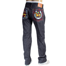 RMC Jeans mens embroidered Jockey Japanese selvedge denim jeans RMC3747