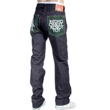 RMC Jeans mens embroidered RMC Robot Toy Japanese selvedge denim jeans RMC4129