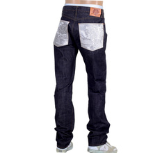 RMC Martin Ksohoh Japanese Raw Selvedge 1011 Slim Fit Silver Bushi Embroidered Denim Jeans RMC2759