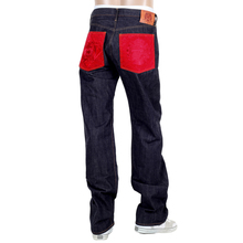 RMC Indigo Red Pocket 1001 Classic Regular Slim Model Japanese Selvedge Raw Denim Jeans RMC2988