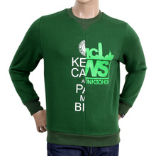RMC Jeans Green Cotton Custom Made Regular fit Crew Neck Sweatshirt with Mixed Printed Logo REDM4425