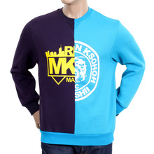 RMC Jeans Cotton RQS14094 Purple and Blue Custom Made Cotton Crewneck Sweatshirt REDM4422