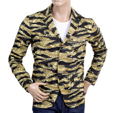 RMC Jeans Cotton Vintage Tiger Tea Camo Printed Jacket Blazer RMC1949