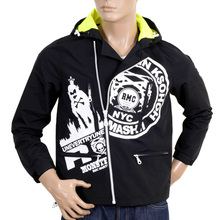 RMC Jeans Functional Monster Rider Zipped RQJ14021 Mens Regular Fit Nylon Hooded Jacket in Black REDM4420