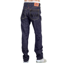 RMC 4A mens black FM Union front embroidered denim jeans RMC2190