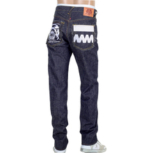 RMC FM Union 1001 Model Mens Selvedge Denim Jeans with White Embroidery 4A FM Union RMC1925