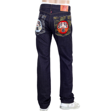 RMC mens embroidered Japanese denim jeans REDM4460