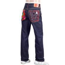 RMC Martin Ksohoh Genuine Raw Selvedge Dark Indigo Denim Jeans with Exclusive Fuji Mountain Embroidery REDM0063