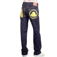RMC Jeans Genuine Dark Indigo Raw Denim Super Exclusive Vintage cut Jeans with Gold Nengo Embroidery REDM0651