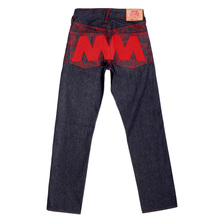 RMC Martin Ksohoh Genuine Vintage Indigo Raw Selvedge Denim Jeans with Red 4A Like Black Embroidery REDM2905