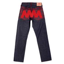 RMC Martin Ksohoh Genuine Vintage Indigo Raw Selvedge Denim Jeans with Red 4A Like Black Embroidery REDM2905