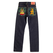 RMC Martin Ksohoh Indigo Raw Selvedge Jeans with Exclusive Monjubosatu YEAR OF THE RABBIT Embroidery REDM3089