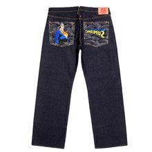 RMC Jeans Vintage Cut Dark Indigo Raw Selvedge Denim Jeans with SUPERMAN SUPERMC Embroidery REDM3698