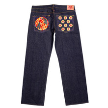 RMC Jeans Vintage Cut Blue Raw Selvedge Denim Jeans with DUELIST KIMONO Embroidery REDM3701