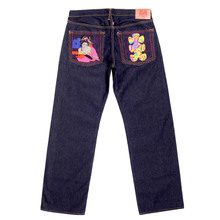 RMC Jeans GEISHA and OIRI Embroidery on Authentic Raw Selvedge Denim Jeans REDM5911