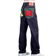 RMC Jeans Exclusive Samurai Monkey Embroidered Genuine Raw Selvedge Vintage Cut Denim Jeans REDM6212