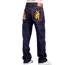 RMC Jeans Dark Indigo Genuine FUDOUMYOUOU YEAR OF THE ROOSTER Embroidered Vintage Raw Selvedge Jeans REDM9075