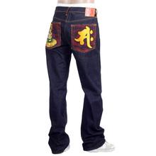 RMC Jeans Dark Indigo Genuine Seisi Bosatu YEAR OF THE HORSE Embroidered Vintage Raw Selvedge Jeans REDM9076