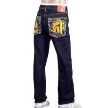 RMC Dark Indigo Genuine Senji Kannon Bosatu YEAR OF THE RAT Embroidered Vintage Raw Selvedge Jeans REDM9077