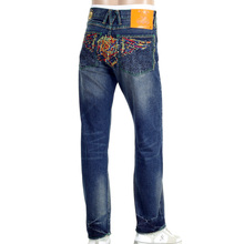 Yoropiko Limited Edition Vintage Cut Exclusive Selvedge Washed Pencil Skull Denim Jeans YORO9172