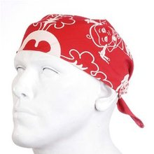 Yoropiko Cotton Logo Printed Red Bandana SKU-YORO2949