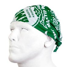 RMC Jeans 100% Cotton Green Printed Bandana for Men RMC Jeans2918
