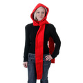 RMC Hooded Scarf Martin Ksohoh red hooded snood scarf REDM1390