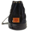 RMC Jeans Fully lined Unisex Denim Duffle Bag with Leather Trim at Top and Base Rim REDM5523