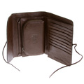 RMC Martin Ksohoh MKWS large brown Italian leather wallet 152621 FFK1R 1060 REDM5702